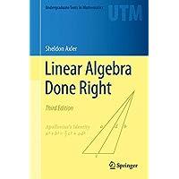 Linear Algebra Done Right 3e