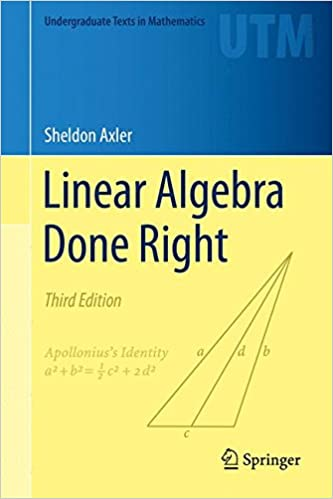 Linear Algebra Done Right 3rd Edition Pdf