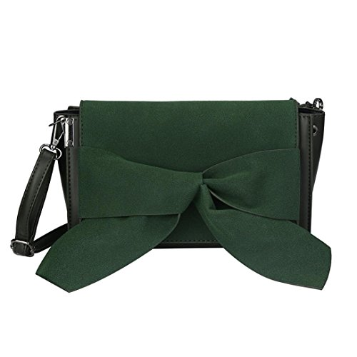 DEESEE Shoulder Handbags One TM Green Bag Lady Bowknot Leather Satchel Tote Designer cZ7rwZYq