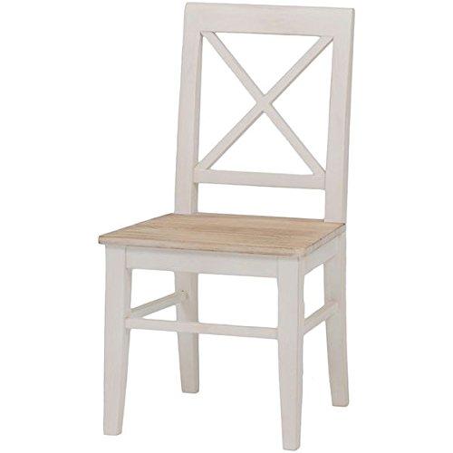 ダイニングチェア/リビングチェア 木製 座面:桐材 アンティーク調 ホワイト(白) 【代引不可】 生活用品 インテリア 雑貨 インテリア 家具 椅子 その他の椅子 top1-ds-1314553-ah [簡素パッケージ品] B06XQX22MN
