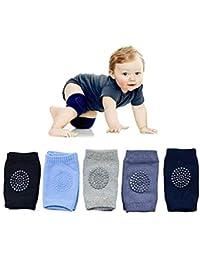 New Unisex Baby Toddlers Kneepads,Toddlers Learn to Socks Children Short Kneepads 5 Pairs MIALUG Baby Crawling Anti-Slip Knee