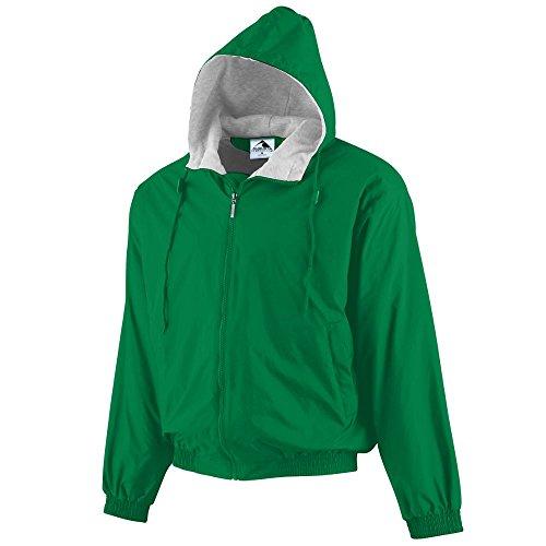 Augusta Sportswear Hooded Taffeta Jacket/Fleece Lined, Kelly, Medium - Kelly Fleece Jacket