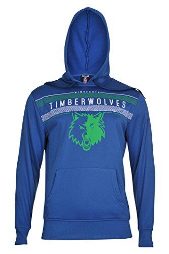 fan products of NBA Men's Minnesota Timberwolves Fleece Hoodie Pullover Sweatshirt Poly Midtown, XX-Large, Blue