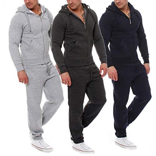 MOIKA Abbigliamento Uomo Uomini Autunno Patchwork Cerniera Felpa Top  Pantaloni Set Tuta Sportiva Tuta 1a15c67f3d1