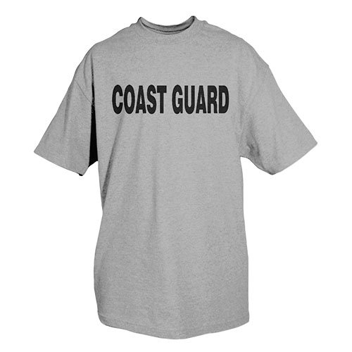 - Fox Outdoor Products Coast Guard Physical Training Imprinted T-Shirt, Heather Grey, Medium