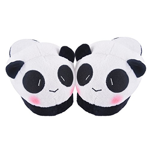 Animal Slippers Shoes - Chicone Cute Winter Cartoon Panda Plush Slippers Soft Warm for Women Pattern 03 H06zgcYP