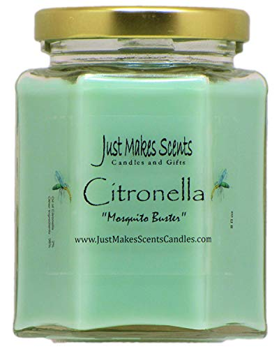 Citronella (Mosquito Repellant) Scented Blended Soy Candle for Indoor Use by Just Makes Scents...