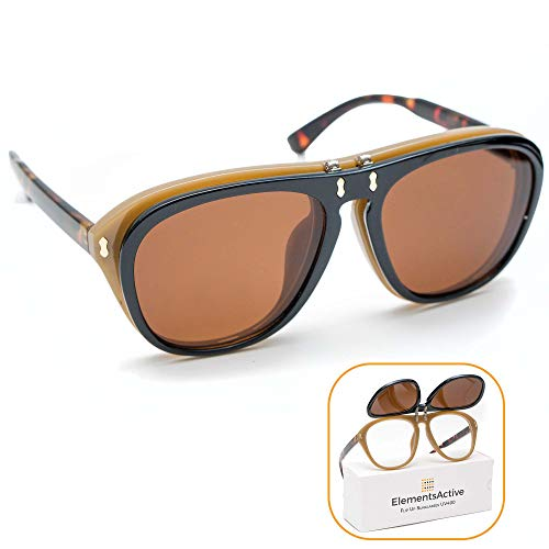 Designer Flip Up Sunglasses - Designer Vintage Fashion Aviator Flip Up