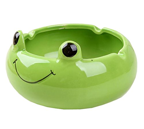 Suplove Cute Creative Ash Holder Animal Ceramic Ashtray Birthday Present (Green) by Suplove Ashtray