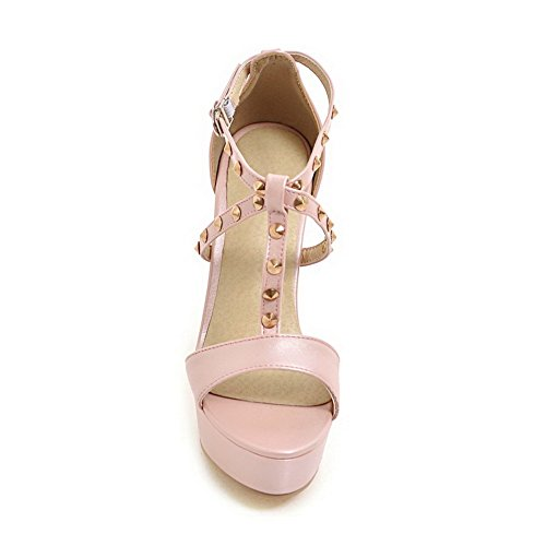 1TO9 Womens Studded Cold Lining Dress Urethane Sandals MJS03236 Pink ahAI8cX4op