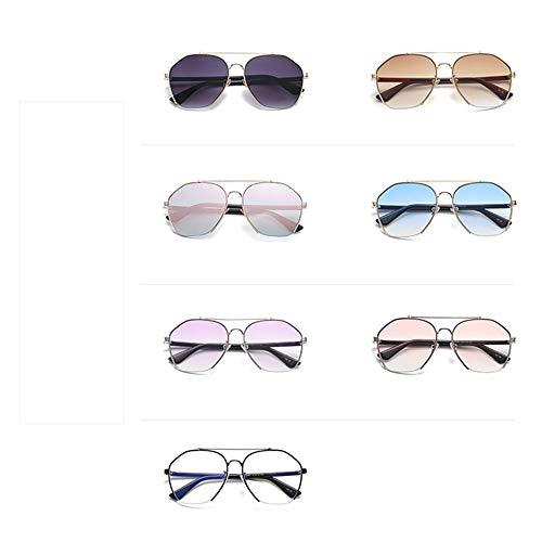 ladies semi sunglasses metal sunglasses Square Lunettes fashion frame glasses 06 lens lens ladies gradient transparent ladies DERTILP gold tqpwvgt