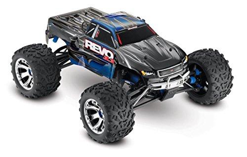 Photo Traxxas Revo 3.3: 1/10 Scale 4WD Nitro-Powered Monster Truck with TQi 2.4GHz Radio & TSM, Blue