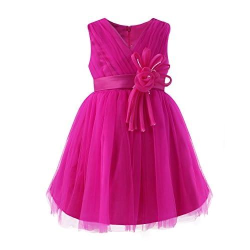 d1036a01e Kidsform Vestido de Princesa para Niña Traje de Vestido Flores Encaje  Floreado Ceremonia de Boda Fiesta