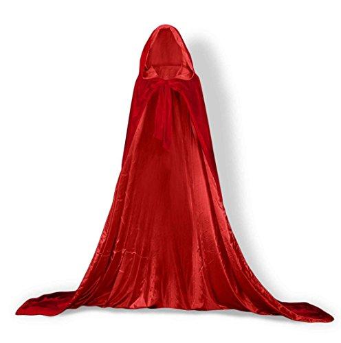 YUSHENGSM Cloak Cape Red-Red-3XL