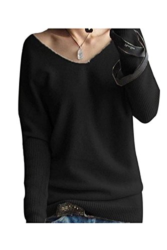LongMing Cashmere Batwing Pullover Sweater
