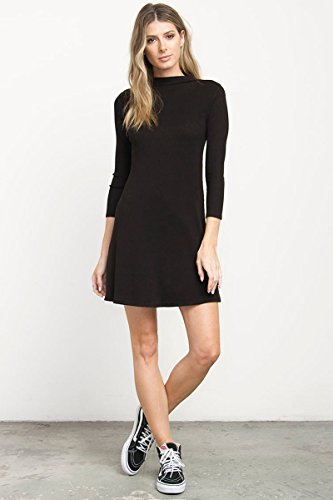 Open Back Turtleneck Dress - 2