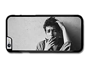 "AMAF ? Accessories Bob Dylan Smoking Black & White Portrait Singer case for iPhone 6 Plus (5.5"")"