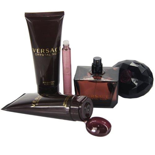 Lot Femme Cadeau Versace Pour Crystal Pieces Noir De 4 Coffret QhtrsdC