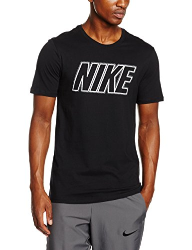 Embrd Nike Block Men's T-Shirt, Black/Black/White, Large