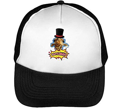 Funny Beisbol Snapback Negro Hombre Gorras Blanco Gentleman rxnRUr