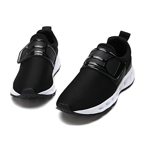Führershow Herrenmode elastische bequeme Sneaker Casual Sport Wanderschuhe Schwarz