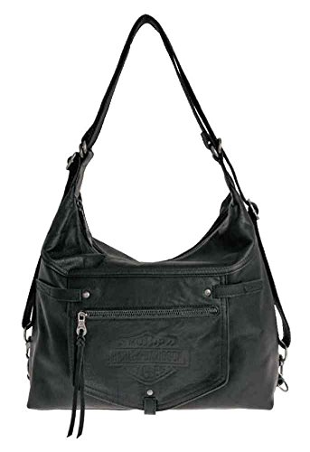 Harley-Davidson Womens Quick Change Hobo Purse / Backpack, Black HDWBA10962-BLK by Harley-Davidson