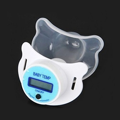 Sunsent Infants Waterproof Digital Pacifier Thermometer Health Temperature Monitor (blue)