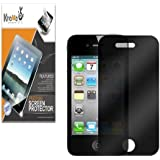 KHOMO Privacy Screen Protector Film for Newly Release Apple iPhone 5 / 5s (AT&T, Verizon, Sprint) - Black