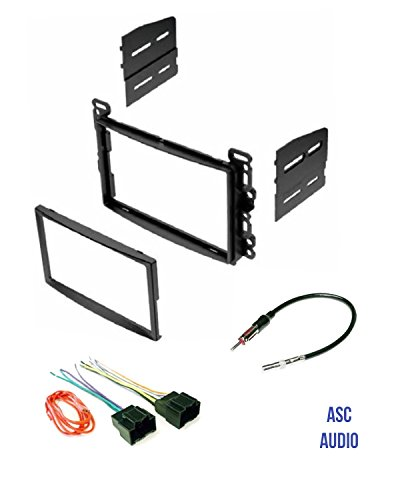 - ASC Audio Double Din Car Stereo Dash Kit, Wire Harness, and Antenna Adapter for some Chevrolet Pontiac Saturn LAN11 Vehicles - Compatible Vehicles Listed Below