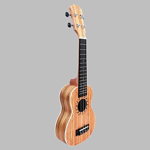Caramel CS102A Zebra Wood Soprano Acoustic Ukulele