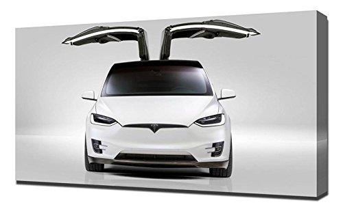 2018 Novitec Tesla Model X 4K - Canvas Art Print - Wall Art - Canvas Wrap (X Tesla Model Christmas)