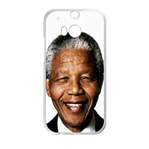 Nelson Mandela Smiling HTC One M8 Cell Phone Case White&Phone Accessory STC_185791