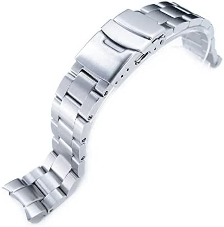 20mm Super Oyster Watch Bracelet for Seiko SKX013, Brushed 316L Stainless Steel, Basic
