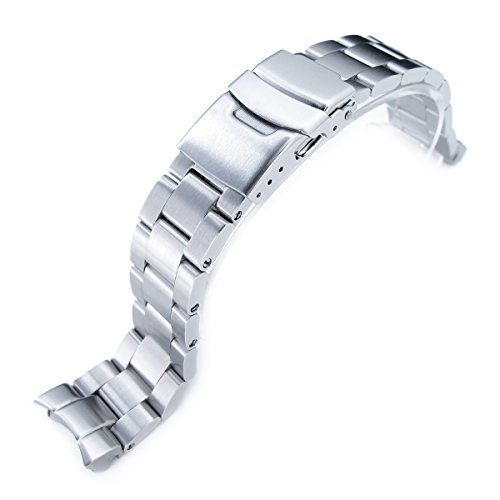 tch Bracelet for Seiko SKX013, Brushed 316L Stainless Steel, Basic (Seiko Link Bracelet)