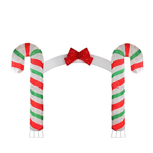 Green Candy Cane Outdoor Lights in US - 9