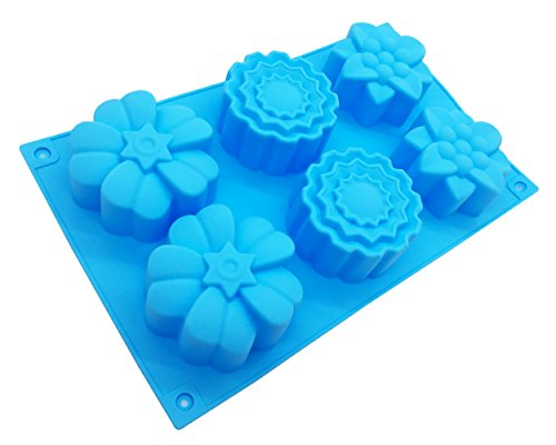 3038 Chocolate - Flower Shape Cake Muffin Baking Silicone Mold Lotion Bars Soap Moulds