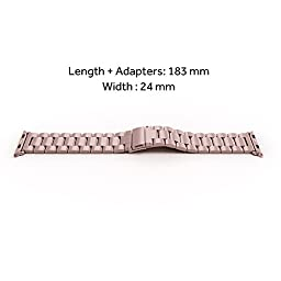 Simpeak Stainless Steel Band Strap for Apple Watch 42mm Series 1 Series 2 - Rose Gold