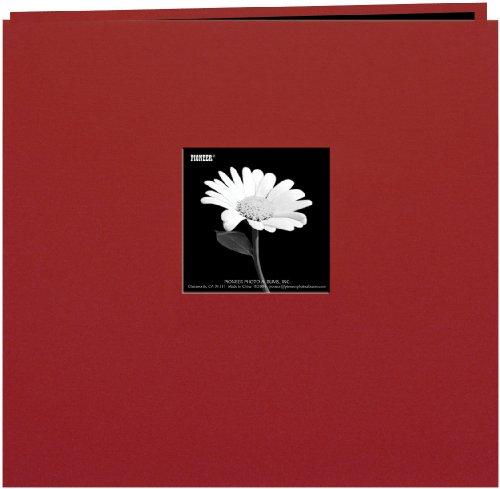 over Post Bound Album 8x8-Burgundy ()