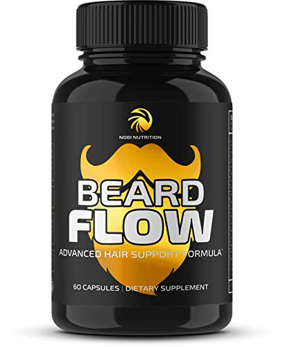 Premium Beard Growth Vitamins Supplement for Men - Grow Thicker, Longer Facial Hair with Scientifically Designed Pills with Biotin, Saw Palmetto & More - for All Facial Hair Types - Veggie Capsules