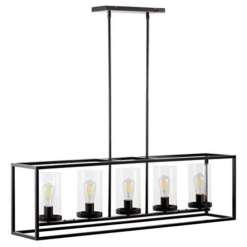 Verona 5 Light Kitchen Island Pendant - Bronze w/LED Bulbs - Linea di Liara LL-CH17-6DB-LED