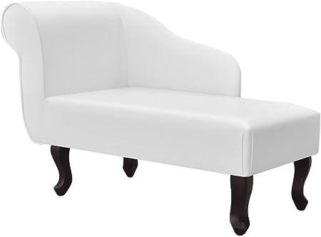 Color: Blanco,Material: Estructura de madera + tapicería de cuero artificial,Dimensiones generales: