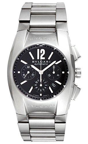 [Bulgari] Bvlgari reloj Elgon Negro Dial Automático Cronógrafo Fecha eg35bssdch Hombres del paralelo mercancías de importación]: Amazon.es: Relojes