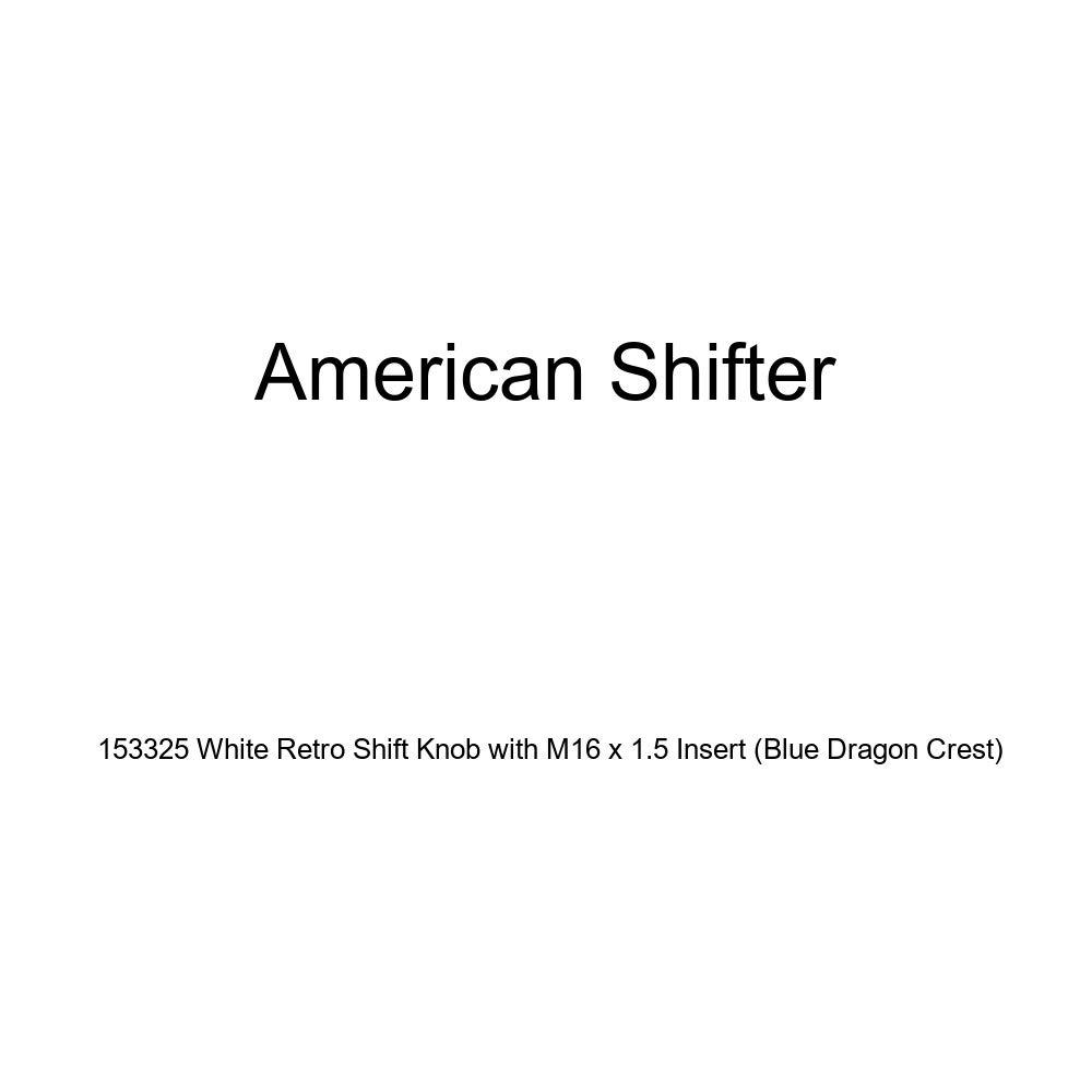 Blue Dragon Crest American Shifter 153325 White Retro Shift Knob with M16 x 1.5 Insert