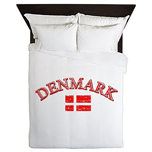 CafePress - Denmark Soccer Designs - Queen Duvet Cover, Printed Comforter Cover, Unique Bedding, Microfiber by CafePress