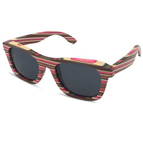 New Wayfarer Polarized Sunglasses for Men Vintage Wood Sun Glasses Women Eyewear