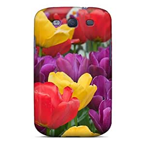 ATJuSdR7769CkGxC Faddish Assorted Tulips Case Cover For Galaxy S3