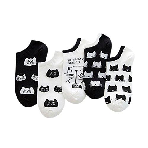 XY Fancy 5 Pairs Lovely Cartoon Car Pattern Boat Socks Ankle Stocking Cotton Low Cut Socks xyfancy-170911-1-6