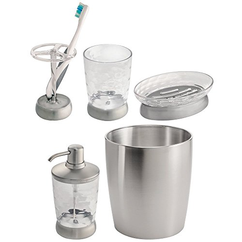 mDesign Bath Accessories Set Stainless
