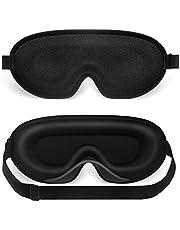 Sleep mask, NEESTARTLY 3D Concave Design, Non pressure, Ultra-soft, Adjustable eye mask for Women Men, Eye Shades for Travel / Naps / Yoga / Insomnia