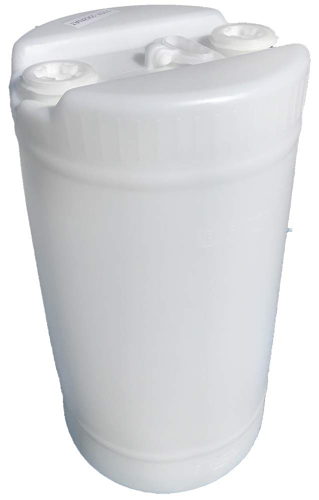 15 Gallon White Plastic Water Barrel | 2-2 inch Bung caps | Food Grade Material